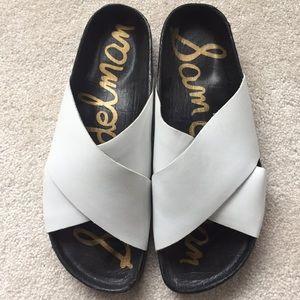 Sam Edelman Women's slide black/white size 8